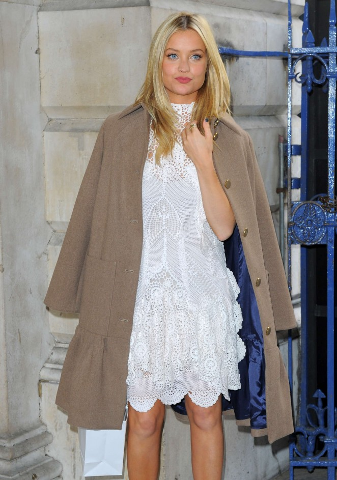 Laura Whitmore at Somerset House for London Fashion Week