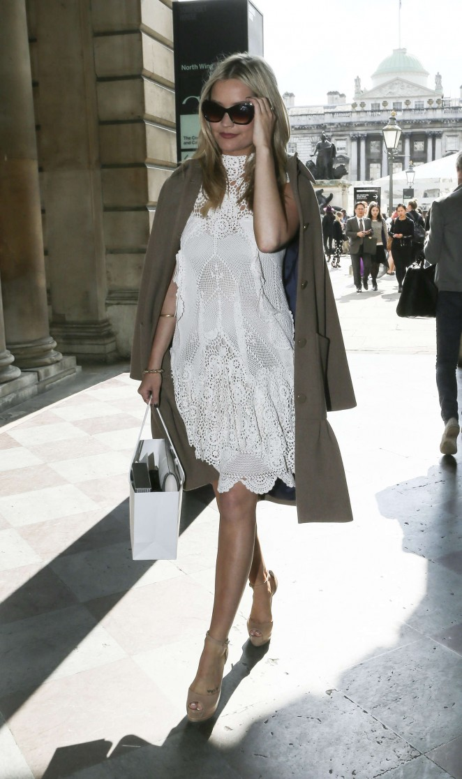Laura Whitmore: Somerset House for London Fashion Week 2014 -23