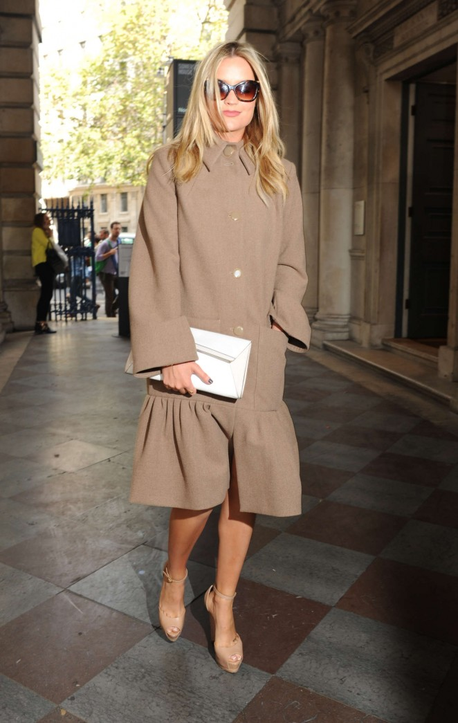 Laura Whitmore: Somerset House for London Fashion Week 2014 -24