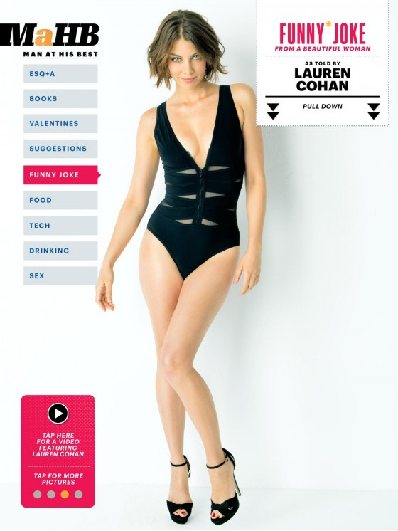 Lauren Cohan - Esquire 2013