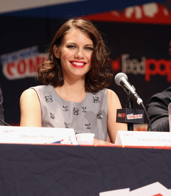 Lauren Cohan – Promoting The Walking Dead at Comic-Con in NY