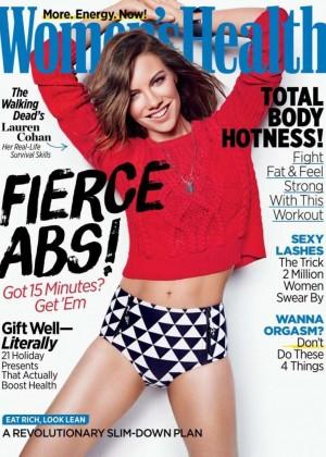 Lauren Cohan - Women's Health Magazine Cover (December 2014)