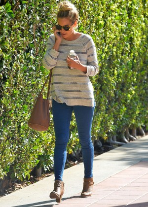 Lauren Conrad in Tight Jeams Leaves a Management Company in Westwood