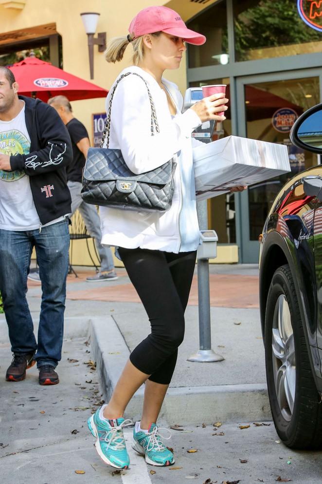 Lauren Conrad in Leggings Shopping in Los Angeles