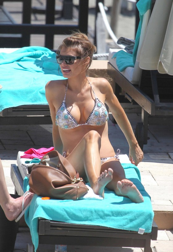 Lauren Pope and Chloe Sims – Bikini in Marbella -04
