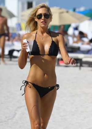 Lauren Stoner Black Bikini in Miami -18