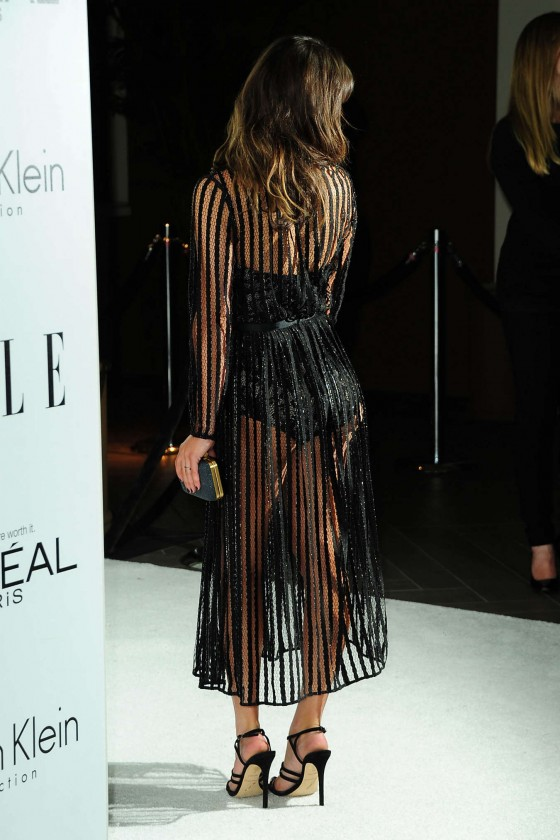 Lea Michele - Wear See-Throug Dress at 2012 Women In Hollywood - ELLE in Beverly Hills