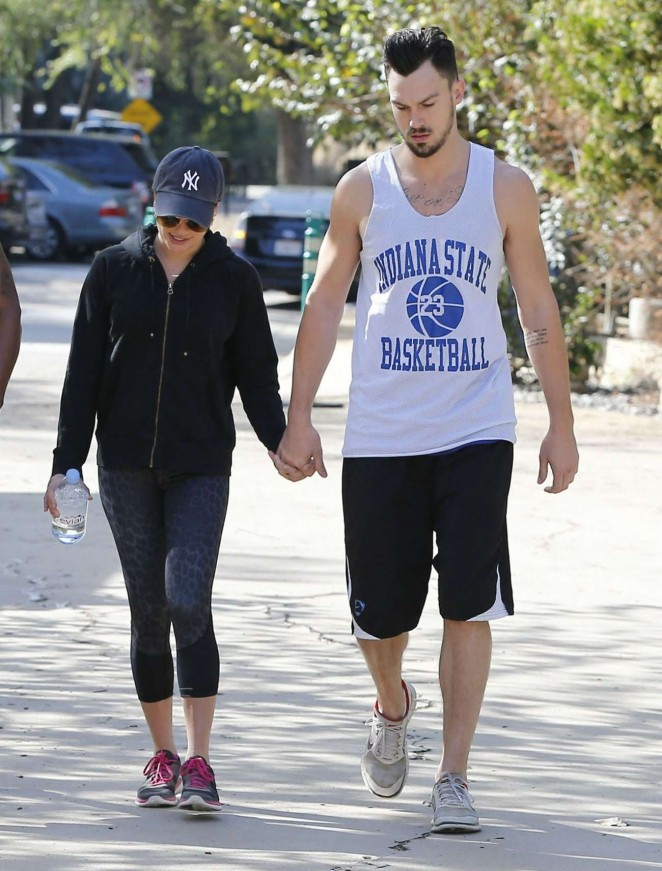 Lea Michele and Matthew Paetz at TreePeople Park in Studio City