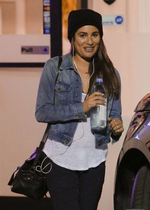 Lea Michele at Butter Nails and Waxing in West Hollywood