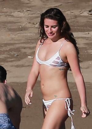 Lea Michele in Bikini on the Beach in Mexico