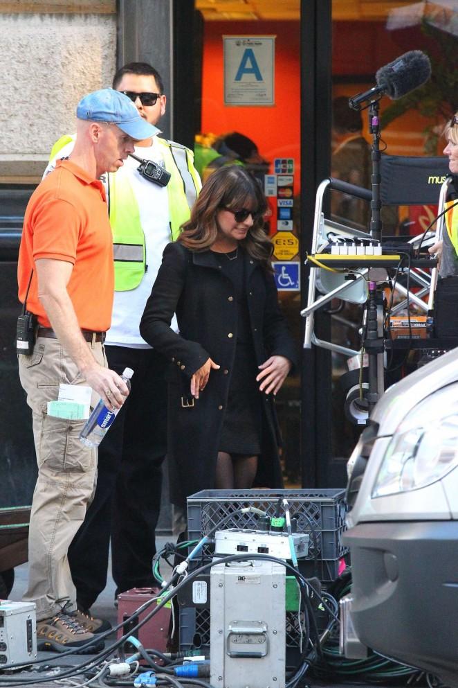 Lea Michele on Glee set -13