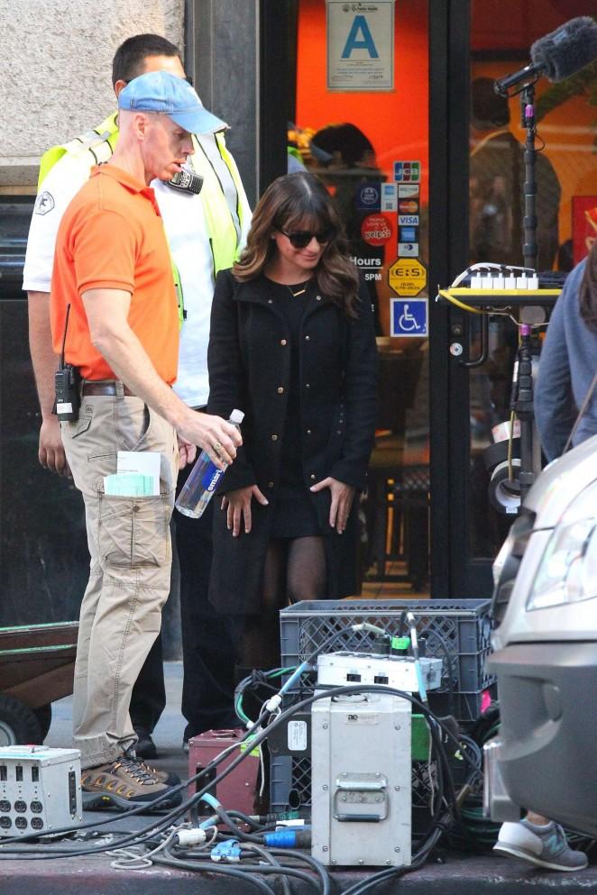 Lea Michele on Glee set -16