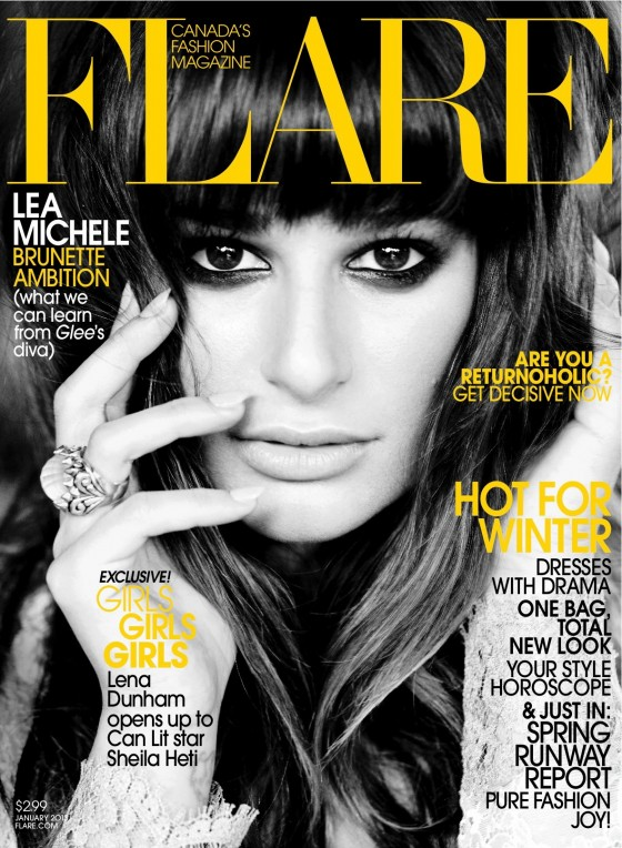 Lea Michele - Flare Magazine (January 2013)