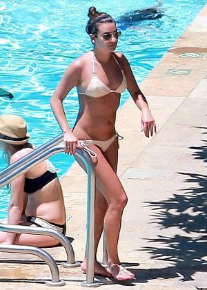 Lea Michele Bikini Photos: in Santa Barbara  -09