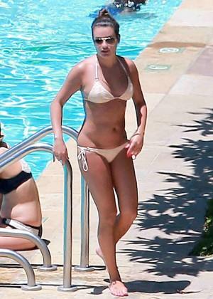 Lea Michele Bikini Photos: in Santa Barbara  -15