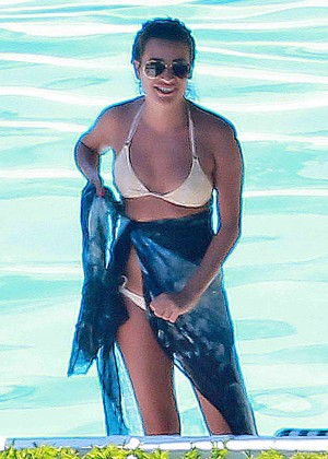Lea Michele Bikini Photos: in Santa Barbara  -25