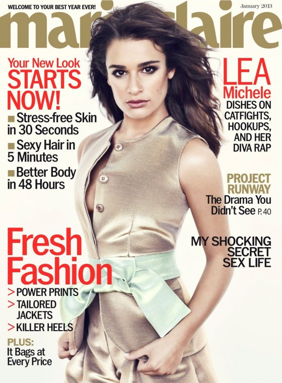 Lea Michele in Marie Claire Photoshoot - January 2013