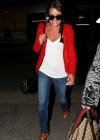 Lea Michele In tight jeans at LAX -04