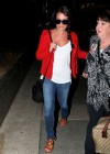 Lea Michele In tight jeans at LAX -05