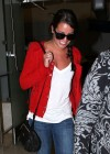 Lea Michele In tight jeans at LAX -06
