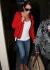 Lea Michele In tight jeans at LAX -07