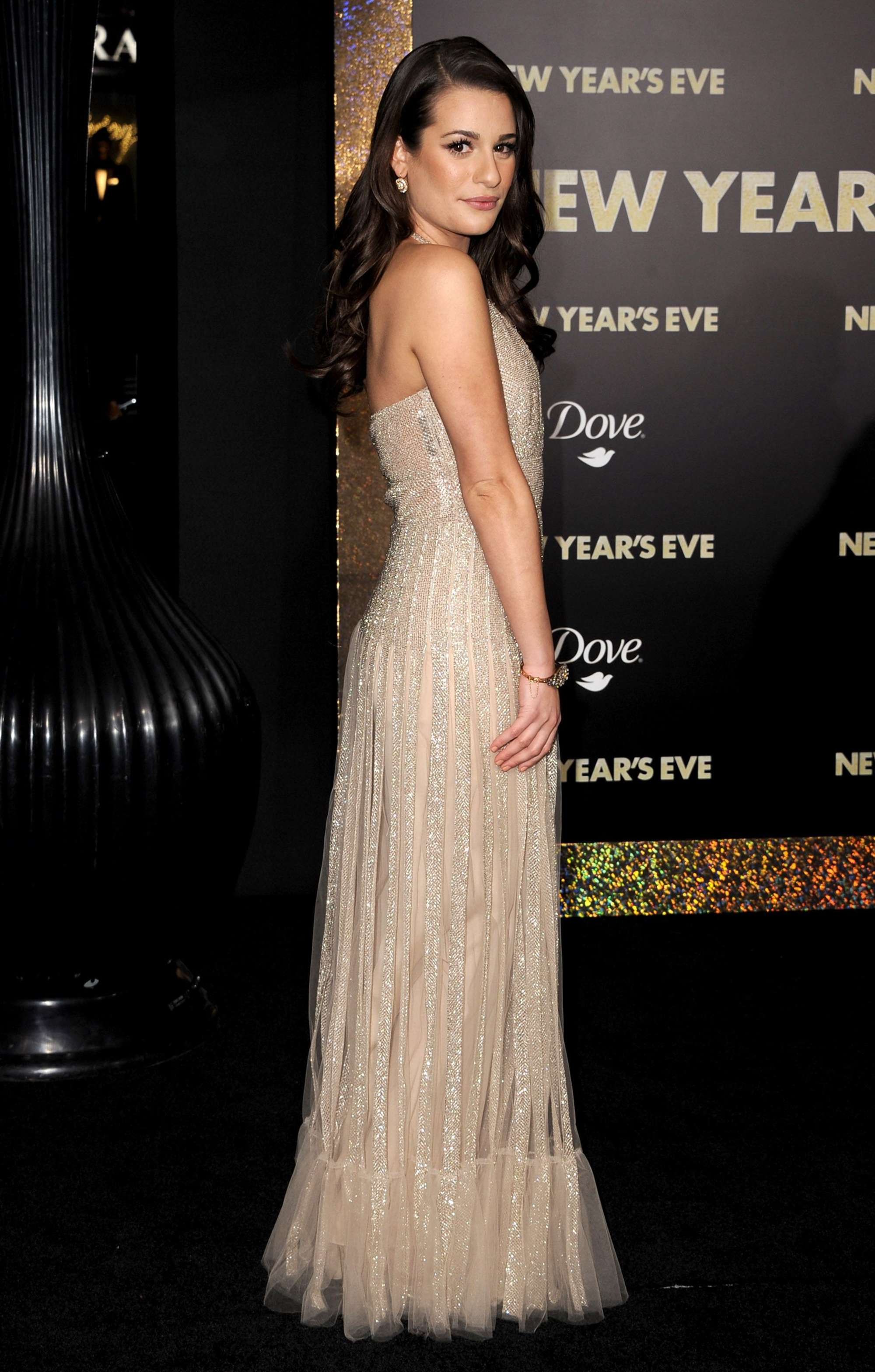 Lea Michele 2011 : Lea Michele – Cleavage at New Years Eve Premiere-02