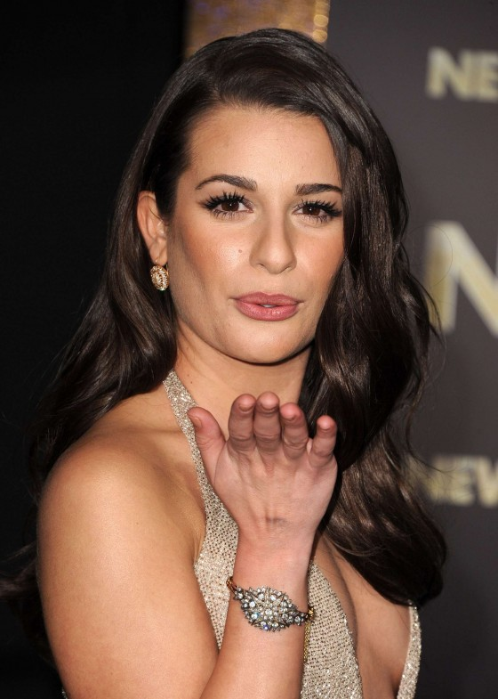 Lea Michele - Cleavage at New Years Eve Premiere-11 - GotCeleb