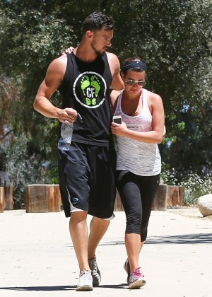 Lea Michele - On a Hike in Los Angeles