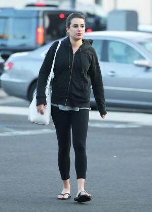 Lea Michele Whit boyfriend Out in LA