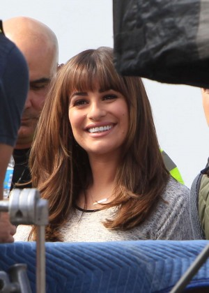 Lea Michele Filming set of 'Glee' in LA