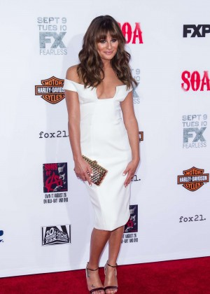 Lea Michele: Sons of Anarchy Los Angeles Premiere -01