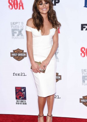 Lea Michele: Sons of Anarchy Los Angeles Premiere -05