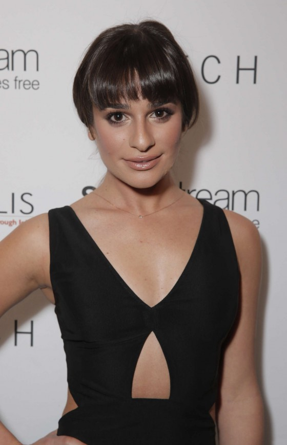 Lea Michele:t Switch Boutique Holiday Party -08