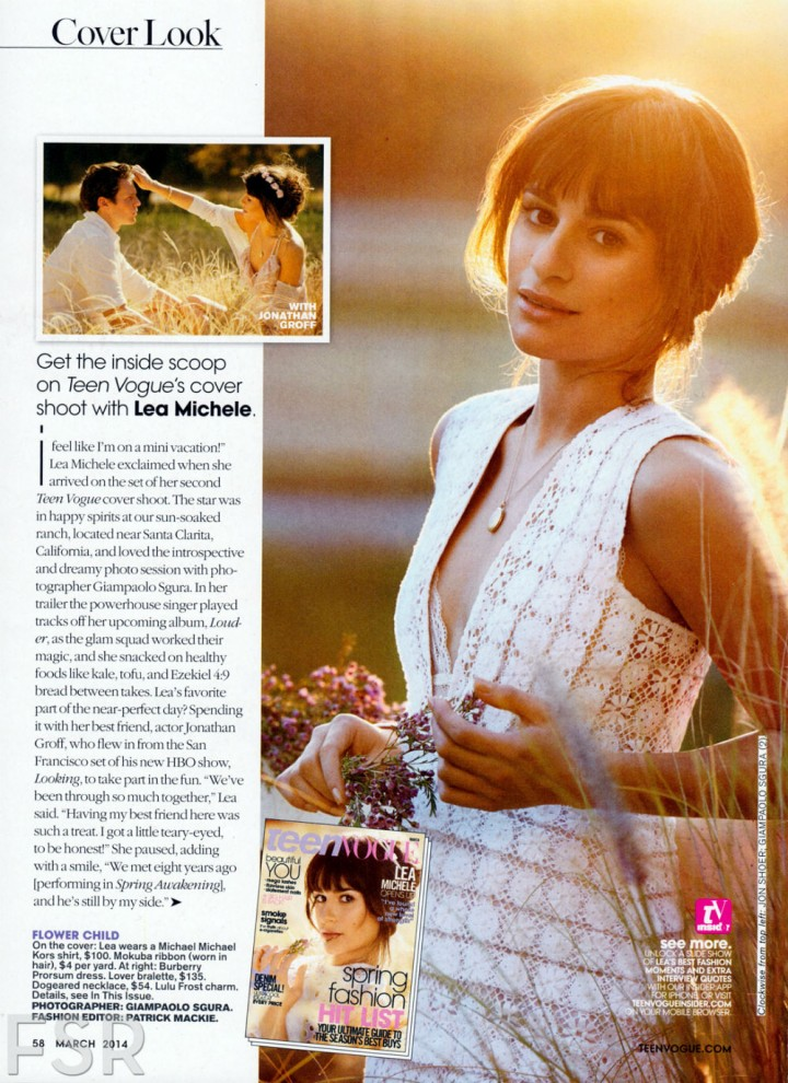 Lea Michele: Teen Vogue Magazine -02