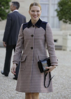 Lea Seydoux - Award Ceremony at the Presidential Elysee Palace in Paris, France