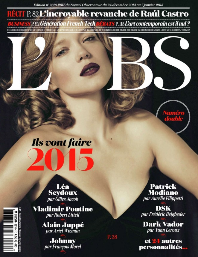 Lea Seydoux - L'Obs Magazine (Winter 2015)