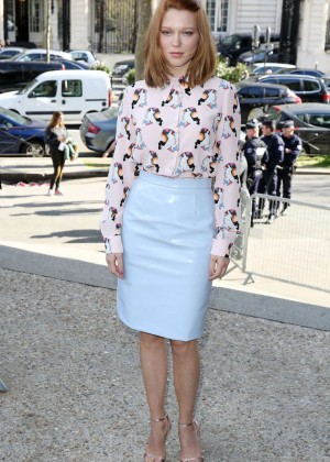 Lea Seydoux: Miu Miu Fashion Show in Paris -03