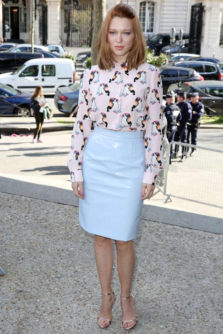 Lea Seydoux – Miu Miu Fashion Show in Paris