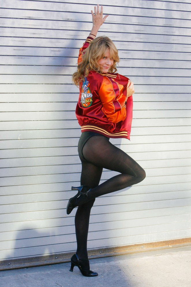 Lea Thompson - Photoshoot at DWTS Rehearsal Studio in Hollywood