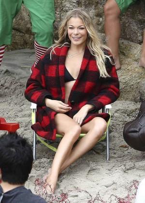 LeAnn Rimes Bikini Photoshoot in Malibu Beach -34
