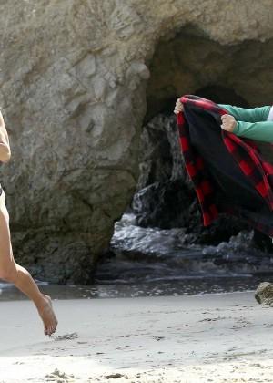 LeAnn Rimes Bikini Photoshoot in Malibu Beach -44