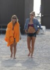 LeAnn Rimes - Wearing bikini top and shorts on Miami Beach -01