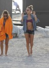 LeAnn Rimes - Wearing bikini top and shorts on Miami Beach -02