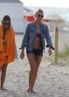 LeAnn Rimes - Wearing bikini top and shorts on Miami Beach -03