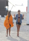 LeAnn Rimes - Wearing bikini top and shorts on Miami Beach -09