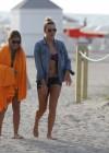 LeAnn Rimes - Wearing bikini top and shorts on Miami Beach -10