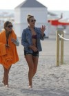 LeAnn Rimes - Wearing bikini top and shorts on Miami Beach -12