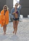 LeAnn Rimes - Wearing bikini top and shorts on Miami Beach -13