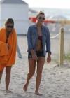 LeAnn Rimes - Wearing bikini top and shorts on Miami Beach -14