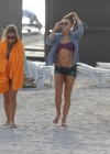 LeAnn Rimes - Wearing bikini top and shorts on Miami Beach -15